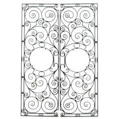 Pair of Highly Decorative English Wrought Iron Garden Gates