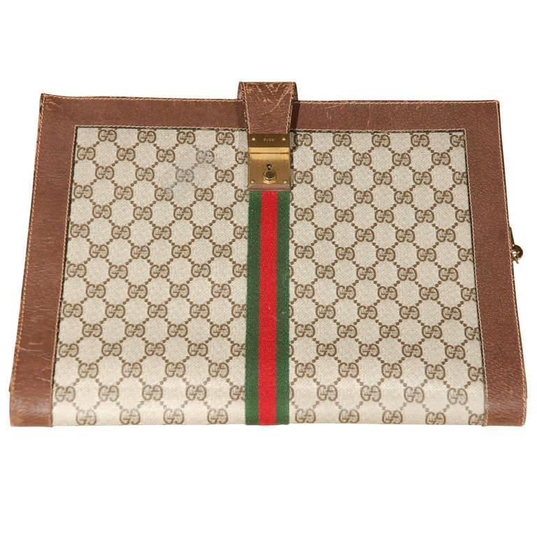 d5f9595e161 Vintage Monogram Gucci Portfolio at 1stdibs