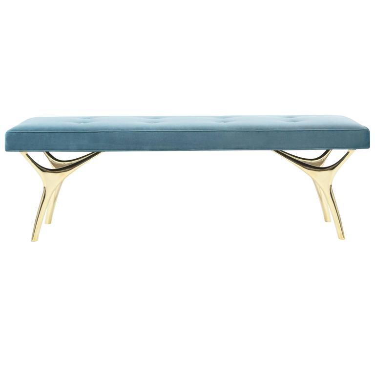 Crescent Bench in Brass 1