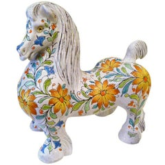 Magnificent Large and Fat Italian Horse Figure