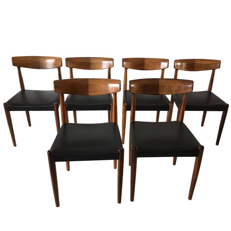 Set of Six Rosewood Dining Chairs Attributed to Knud Faerch for Bovenkamp, 1960s