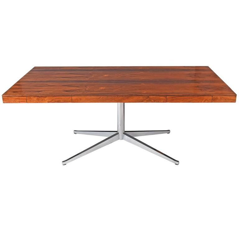 Florence Knoll Rosewood Executive Table Desk For