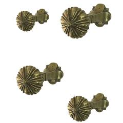 Vienna, Early 20th Century Set of 3 Bronze Coat and Hat Hooks