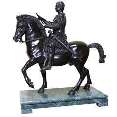 Stunning Gattamelata Statuette on a Sophisticated Base