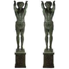 Set of 2 Telamoni Statues