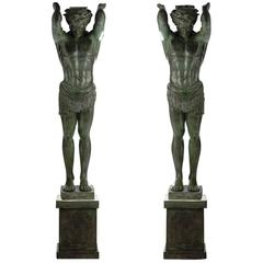 Set of two Exclusive and Sophisticated Telamon Statuettes