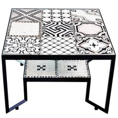 Black Spider Tiles Table