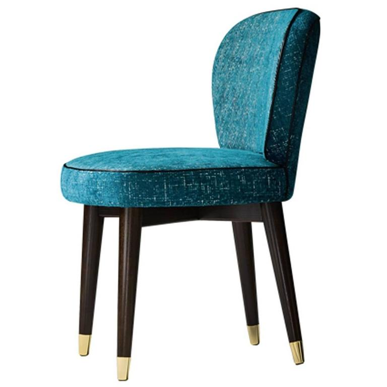 Comfortable Blue 39 Olivia 39 Chair For Sale At 1stdibs