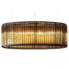 Sophisticated Big Chandelier with an Elliptical Shape