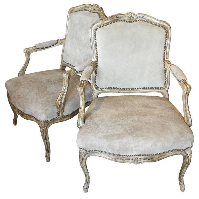 Pair of 19th Century Louis XV Chairs