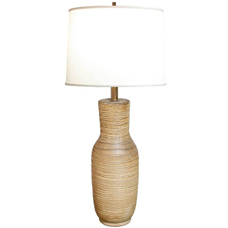 Design Technics Studio Ceramic Table Lamp, 1950s