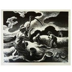 "Lithograph ""Island Hay"" by Thomas Hart Benton, Martha's Vineyard"