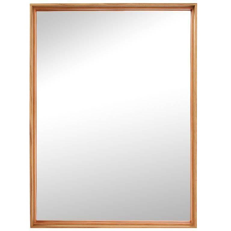 Thin Line Wood Mirror by WYETH For Sale
