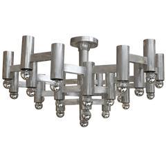 Pair of Pendant Lamps Designed by Gaetano Sciolari