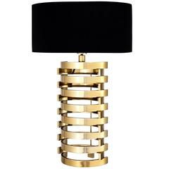 Building Table Lamp in Gold Finish or in Nickel Finish