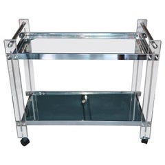 Mid-Century Lucite Bar Cart