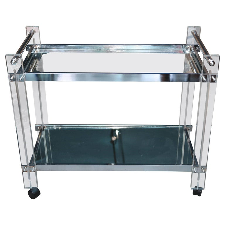Mid-Century Lucite Bar Cart 1