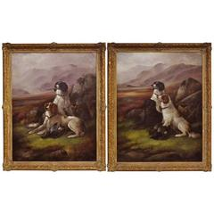Pair of 19th Century English Oil Paintings Signed by James Hardy Jr