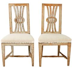 Open Back Gustavian Chairs
