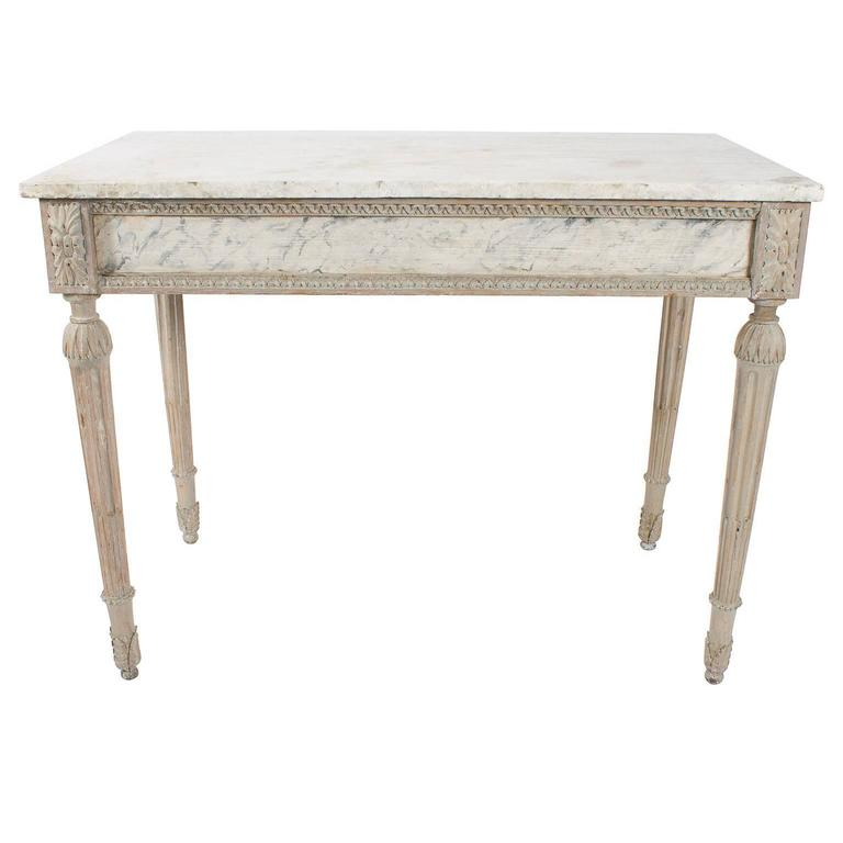 Bianco Carrara marble console, 18th century