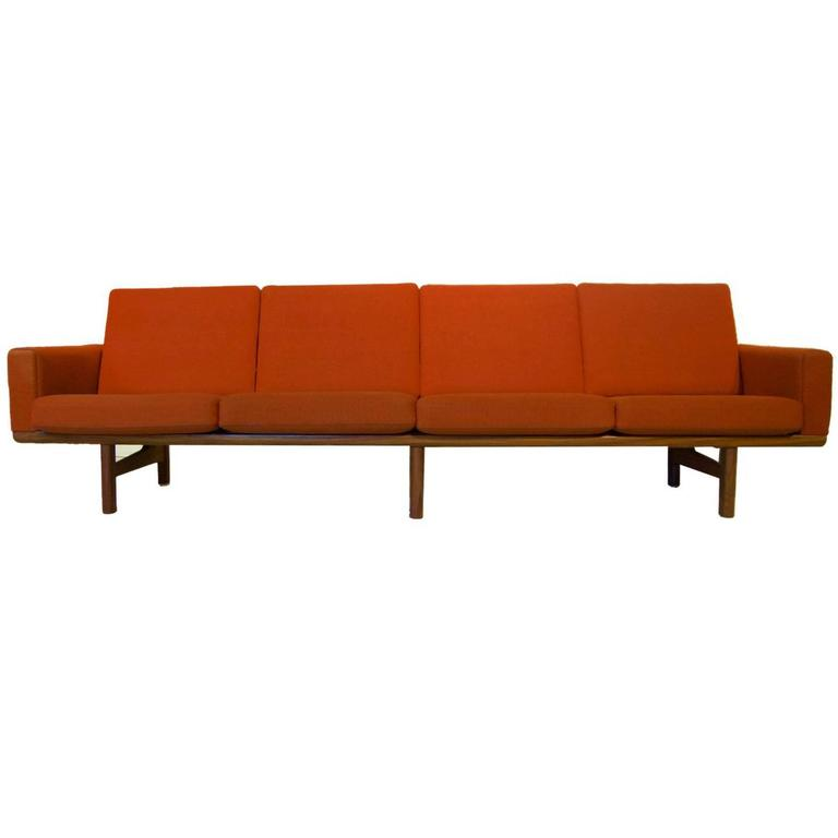 Hans Wegner Ge236/4 Sofa by GETAMA in Teak