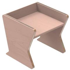 Heritage 'Sit' Child Chair by Studiokinder in Blush Pigmented Ash with Copper