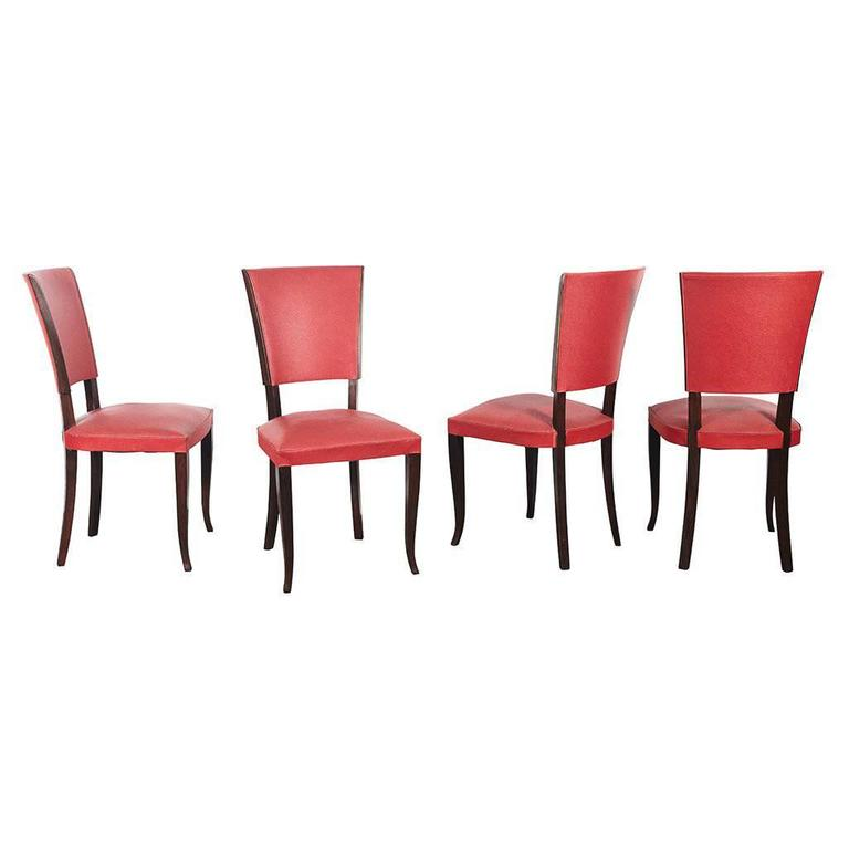 Set of Four Art Deco Style Chairs