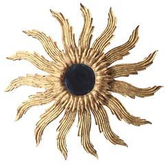 20th Century Italian Gilt Sunburst Mirror
