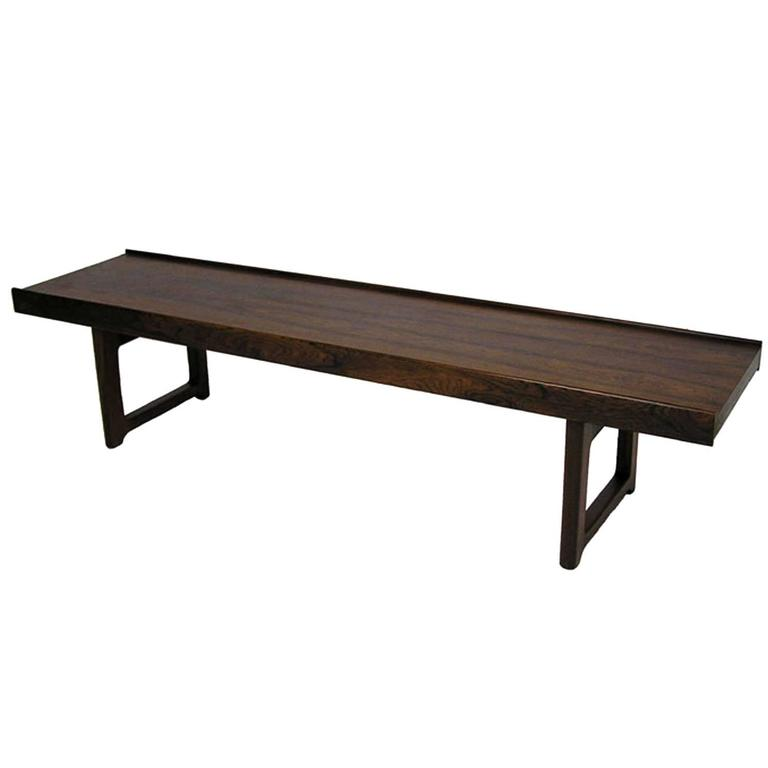 "1960s Torbjorn Afdal Rosewood ""Krobo"" Bench, Norway For Sale"