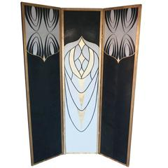 """Feathers"" Three-Panel Screen by Londubh Studio"