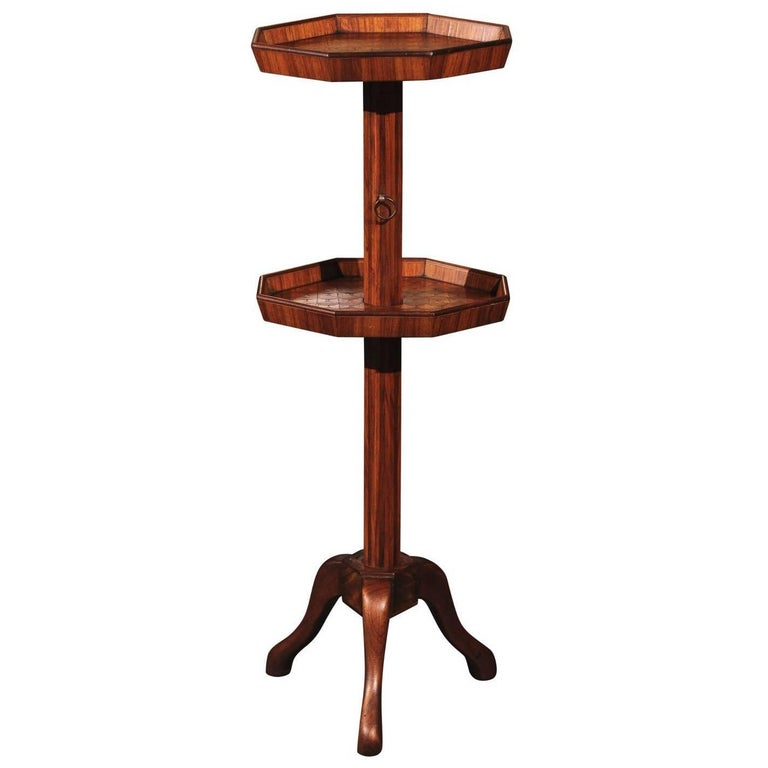 Adjustable French Wooden Dumb Waiter/Pedestal Stand from the Late 19th Century For Sale
