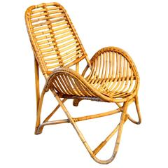 French Bamboo and Rattan Chair