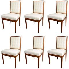 Set of Six Upholstered Dining Chairs, French, circa 1940