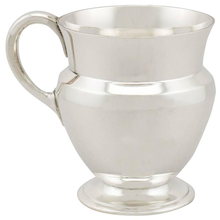 Antique Sterling Silver Christening Mug For Sale