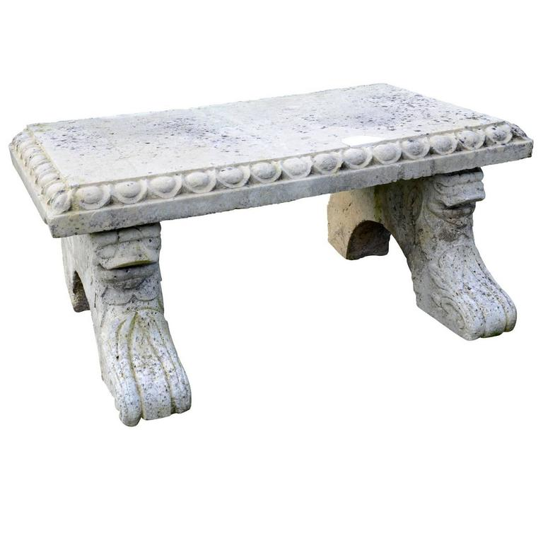 Gothic Style Stone Entablature, 19th Century For Sale