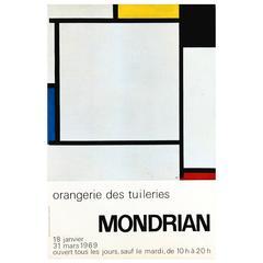 """Original Vintage Poster for A Mondrian Art Exhibition in Paris, """"Composition 2"""""""