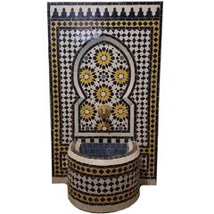 Moroccan Tazia Mosaic Fountain, All Handmade