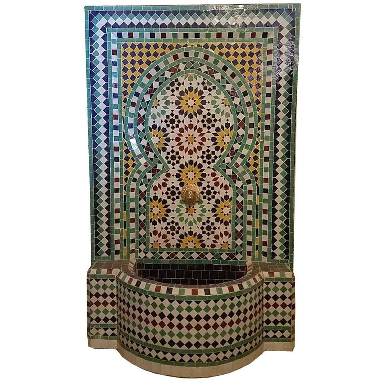 Beldia Style Moroccan Fountain, Mosaics For Sale