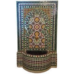 Beldia Style Moroccan Fountain, Mosaics