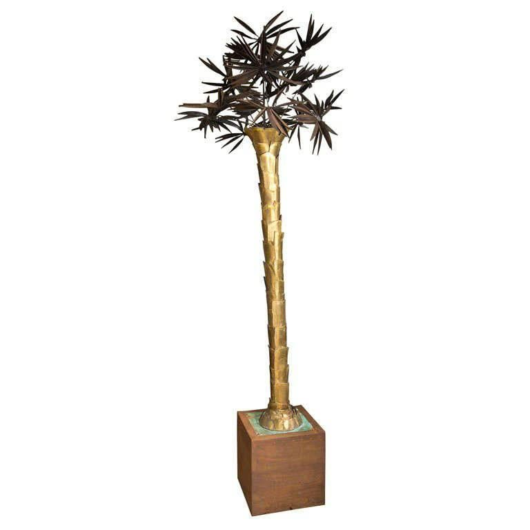 Stylized reed palm tree floor lamp for sale at 1stdibs dramatic french palm tree floor lamp aloadofball Choice Image