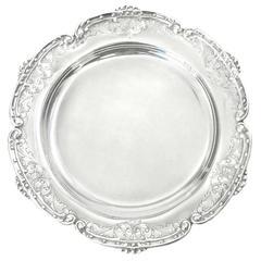 Twelve .800 Silver Dessert Plates c1950s by Bellini