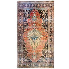 Unbelievable Late 19th Century Sarouk Farahan Rug
