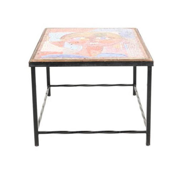Vintage Gaudi Style Mosaic Coffee Table, Circa 1950 For Sale