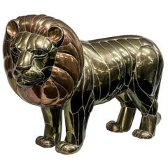 Lion Sculpture by Mexican Artist Sergio Bustamante