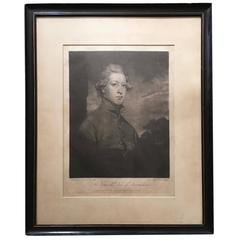 18th Century Portrait Engraving of the Duke of Devonshire after Joshua Reynolds