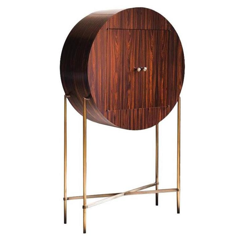 "Limited Edition André Poli ""Round Cabinet"" for Vermeil For Sale"