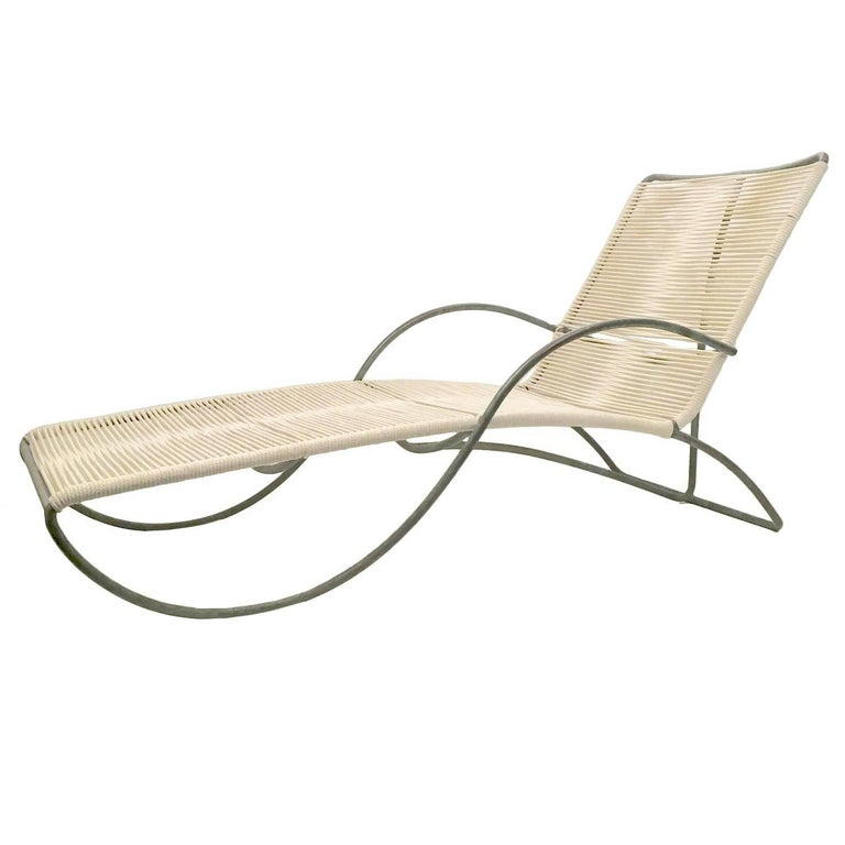 "Chic Walter Lamb Bronze ""S"" Arm Chaise"