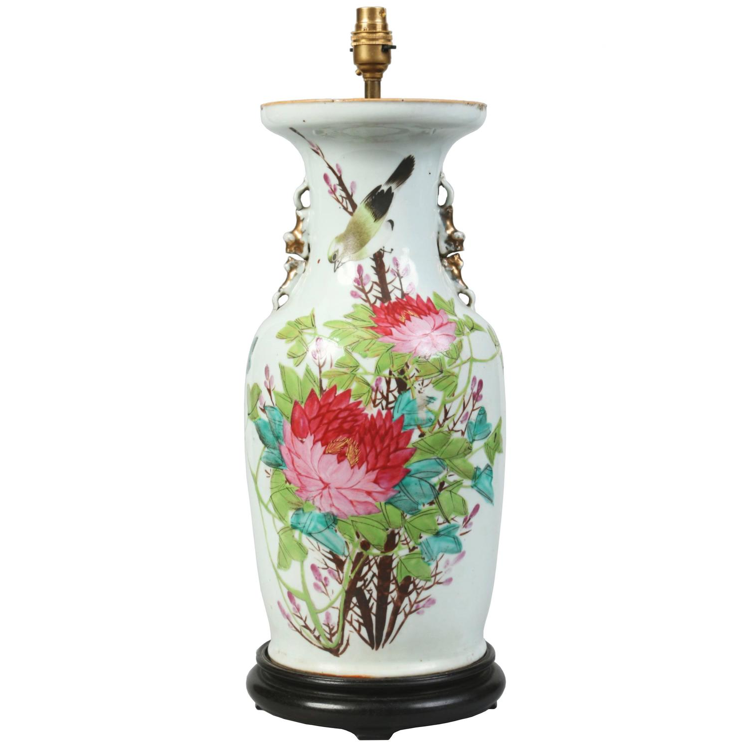 Antique early 20th century chinese republic period porcelain vase antique early 20th century chinese republic period porcelain vase table lamp for sale at 1stdibs reviewsmspy