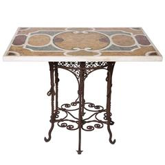 Antica Roma Marble Intarsia Table