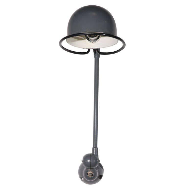 Vintage French Industrial Metal Lamp by Jean-Louis Domecq for Jielde Factory